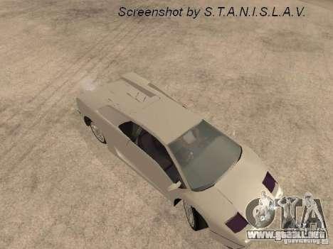 Lamborghini Diablo para GTA San Andreas vista hacia atrás