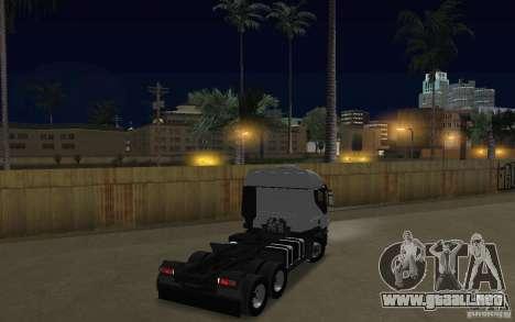 Iveco Stralis Double Trailers para la visión correcta GTA San Andreas