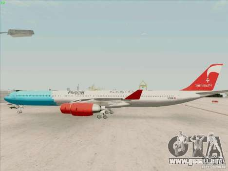 Airbus A-340-600 Plummet para GTA San Andreas left