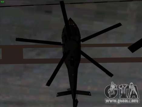 MH-X Stealthhawk para visión interna GTA San Andreas