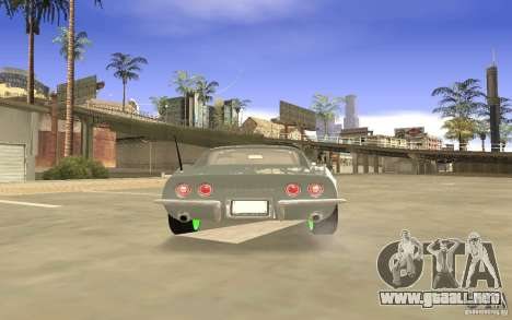 Chevrolet Corvette Stingray Monster Energy para la vista superior GTA San Andreas