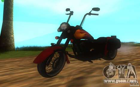 Motorcycle from Mercenaries 2 para GTA San Andreas vista posterior izquierda