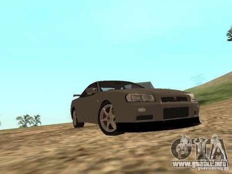 Nissan Skyline GTR R34 para visión interna GTA San Andreas