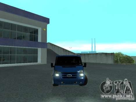 Ford Transit Sport 2011 para GTA San Andreas vista hacia atrás