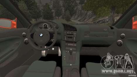 BMW M3 E36 para GTA 4 vista hacia atrás