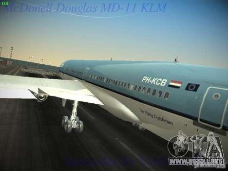 McDonnell Douglas MD-11 KLM Royal Dutch Airlines para visión interna GTA San Andreas