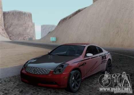 Infiniti G35 para el motor de GTA San Andreas