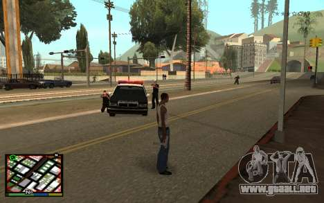 GTA V Interface para GTA San Andreas segunda pantalla