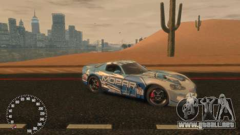 Dodge Viper SRT-10 Mopar Drift para GTA 4 left