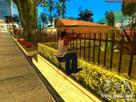 New Animations V1.0 para GTA San Andreas sucesivamente de pantalla