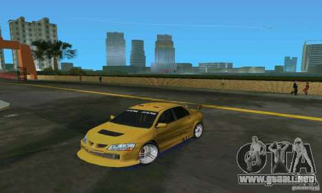 Mitsubishi Lancer Evo para GTA Vice City left