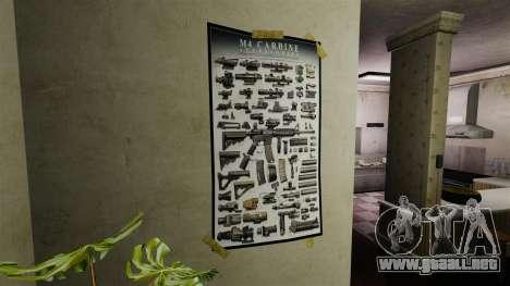 Nuevos carteles en el apartamento del segundo para GTA 4 tercera pantalla