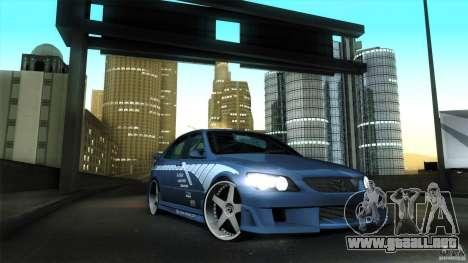 Lexus IS 300 Veilside para visión interna GTA San Andreas