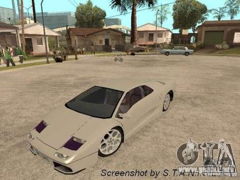 Lamborghini Diablo para la visión correcta GTA San Andreas