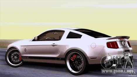 Ford Shelby GT500 Super Snake para la visión correcta GTA San Andreas