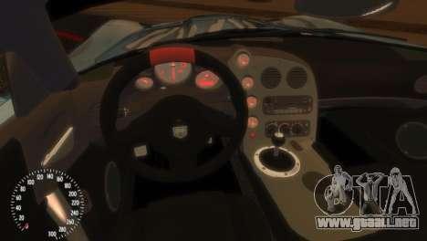 Dodge Viper SRT-10 Mopar Drift para GTA 4 vista hacia atrás