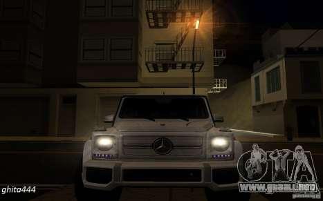 Mercedes Benz G65 AMG para GTA San Andreas vista hacia atrás