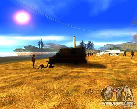 Salvación del hombre en la playa para GTA San Andreas segunda pantalla