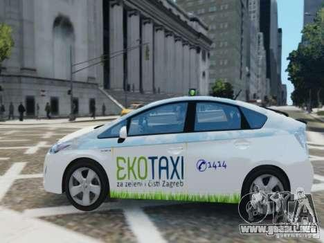 Toyota Prius EKO TAXI (Hrvatski taxi) para GTA 4 left