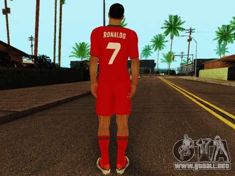 Cristiano Ronaldo v4 para GTA San Andreas sucesivamente de pantalla