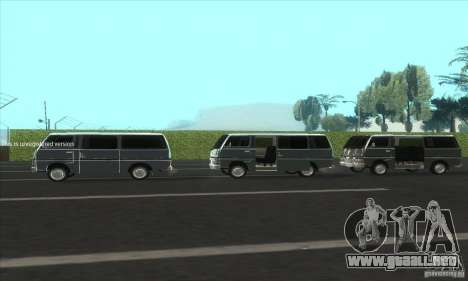 Nissan Caravan E20 para visión interna GTA San Andreas
