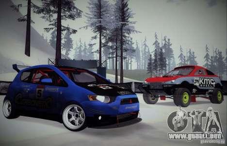 Mitsubishi Colt Rallyart Carbon 2010 para vista lateral GTA San Andreas