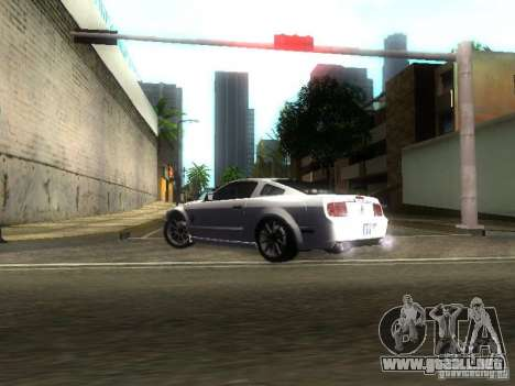 Ford Shelby GT 2008 para visión interna GTA San Andreas