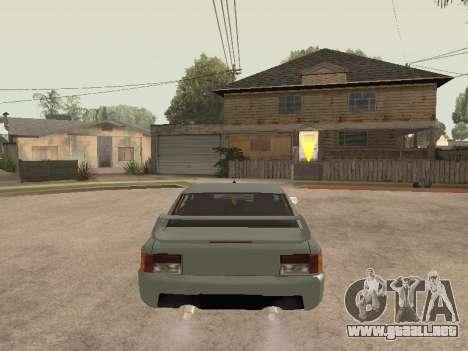 Sultan Impreza v1.0 para GTA San Andreas vista hacia atrás