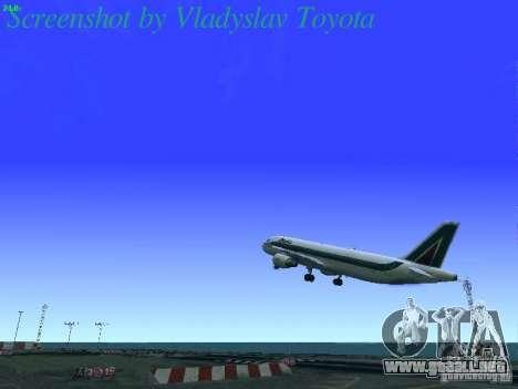 Airbus A320-214 Alitalia v.1.0 para GTA San Andreas interior