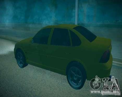 Opel Vectra B para vista lateral GTA San Andreas