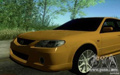 Mazda Speed Familia 2001 V1.0 para la visión correcta GTA San Andreas