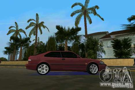 Saab 9-3 Aero 3-door 1999 para GTA Vice City visión correcta