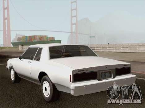 Chevrolet Caprice 1986 para el motor de GTA San Andreas