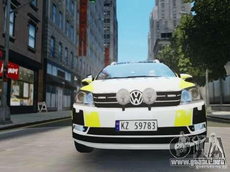 Volkswagen Passat B7 Variant 2012 para GTA 4 vista lateral