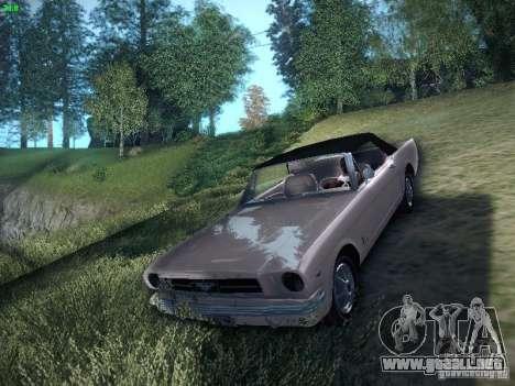 Ford Mustang Convertible 1964 para GTA San Andreas vista posterior izquierda