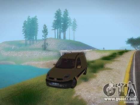 Renault Kangoo II Stock para GTA San Andreas vista posterior izquierda