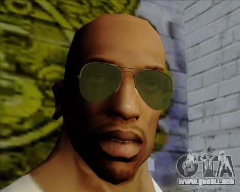 Gafas de sol verdes aviadores para GTA San Andreas