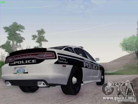 Dodge Charger 2012 Police para GTA San Andreas vista hacia atrás