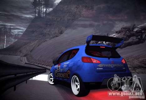 Mitsubishi Colt Rallyart Carbon 2010 para la visión correcta GTA San Andreas
