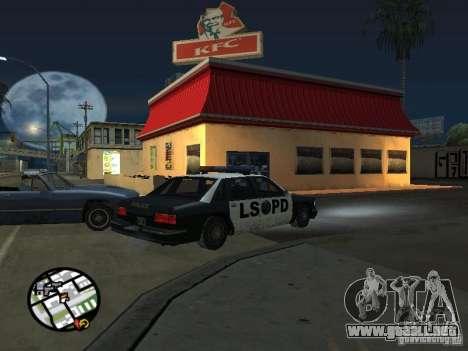 Nuevos restaurantes de texturas para GTA San Andreas octavo de pantalla