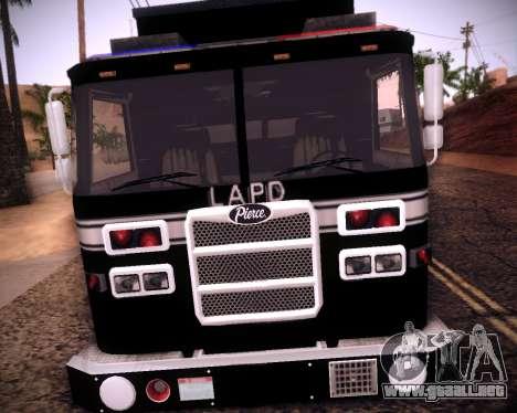 Pierce Contendor LAPD SWAT para GTA San Andreas left