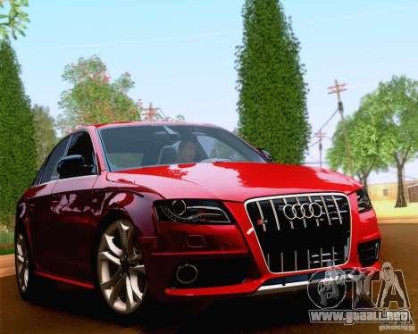 Audi S4 2010 para GTA San Andreas vista posterior izquierda