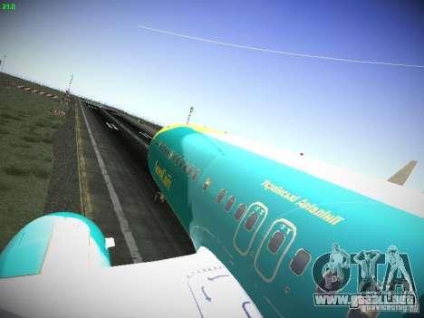 Boeing 737-84R AeroSvit Ukrainian Airlines para GTA San Andreas vista hacia atrás