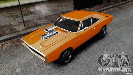 Dodge Charger RT 1970 para GTA 4 Vista posterior izquierda