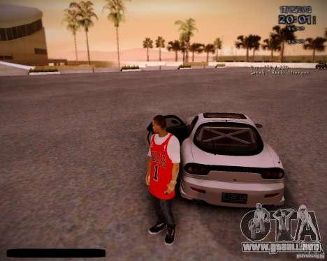 Piel Chicago Bulls para GTA San Andreas quinta pantalla