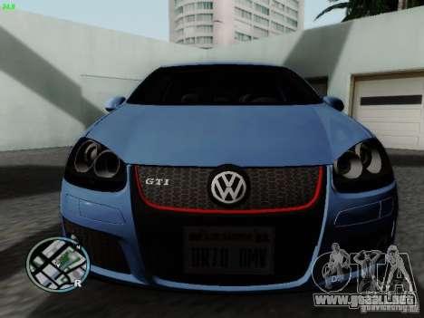 Volkswagen Golf V R32 Black edition para GTA San Andreas left
