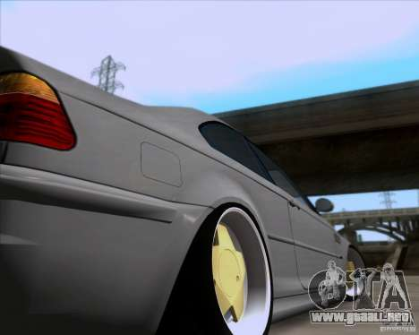BMW 3-er E46 Dope para visión interna GTA San Andreas