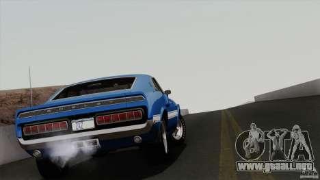 Shelby GT500 428 Cobra Jet 1969 para vista inferior GTA San Andreas