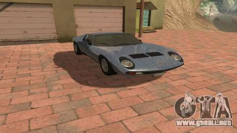 Lamborghini Miura P400 SV 1971 V1.0 para visión interna GTA San Andreas