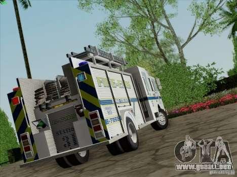 Pierce Pumpers. B.C.F.D. FIRE-EMS para GTA San Andreas left